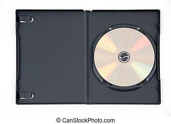 caso, dvd, negro, oro