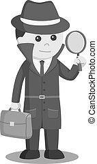 caso, espía, breve, vidrio, tenencia, aumentar