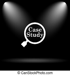 caso, estudio, icono