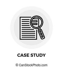 caso, estudo, ícone