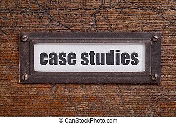 caso, estudos, etiqueta