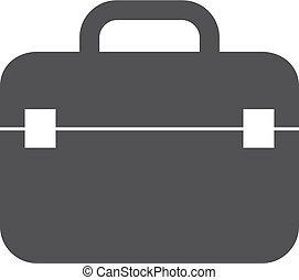 caso, icona, in, nero, su, uno, bianco, fondo., vettore, illustrazione