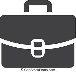caso, illustrazione, fondo., vettore, nero, bianco, icona