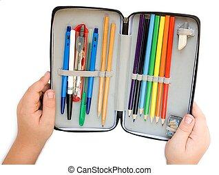 caso, lápices