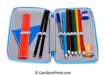 caso, lápiz, macro