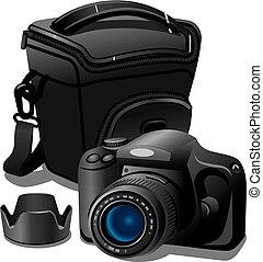 caso, macchina fotografica
