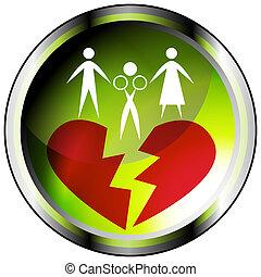 caso, marital, ícone
