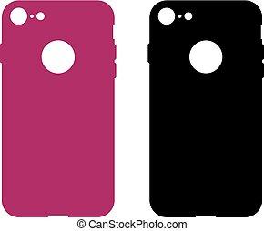 caso, mobile, protettivo, telefono