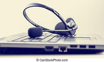 casque à écouteurs, clavier portable
