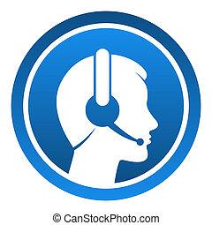 casque à écouteurs, contact, icône