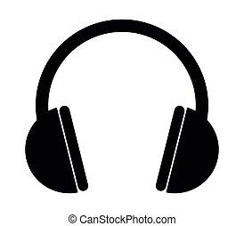 casque à écouteurs, icône