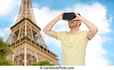 casque à écouteurs, lunettes, réalité virtuelle, homme, 3d,...