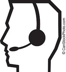 casque à écouteurs, symbole
