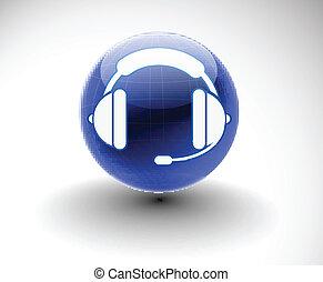 casque à écouteurs, toile, icône