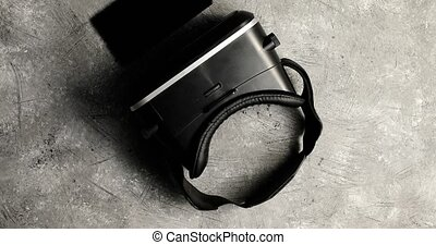 casque à écouteurs, vr, gris, surface, téléphone