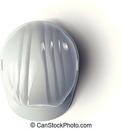 casque, blanc, 2
