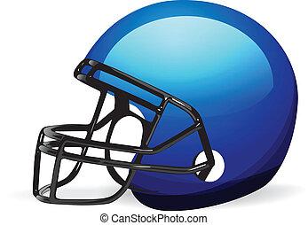 casque, blanc, football