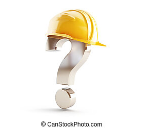 casque, construction, point interrogation