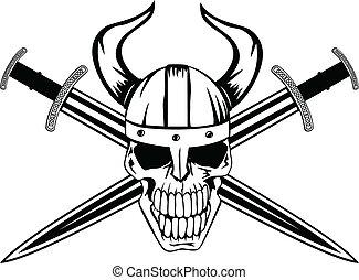 casque, crâne
