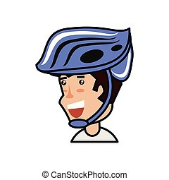casque cycliste, homme sécurité