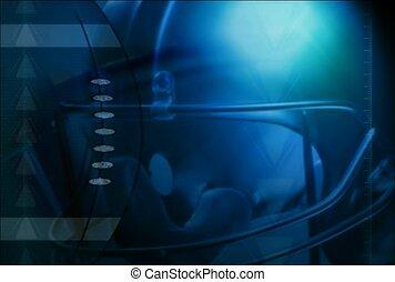 casque, football, bleu