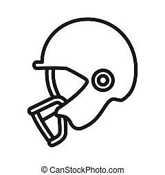 casque, football, conception, illustration