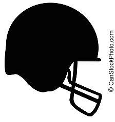 casque, football, silhouette