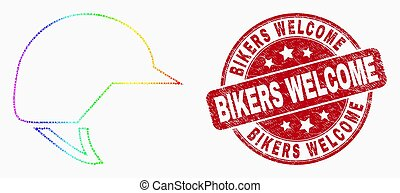 casque, grunge, watermark, accueil, spectre, motards, vecteur, pixelated, icône, motocyclette
