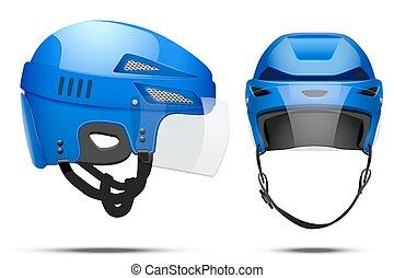 casque, hockey, classique