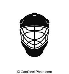 casque hockey, goal, icône