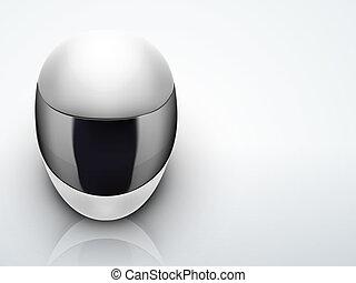 casque, lumière, élevé, motocyclette, fond, blanc, qualité