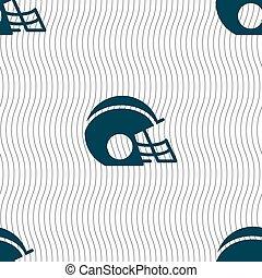 casque, modèle, signe., football, seamless, vecteur, géométrique, texture., icône