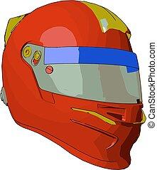 casque, protecteur, couleur, objet, illustration, vecteur, peinture, ou