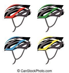 casque, sécurité bicyclette