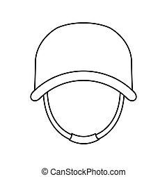 casque, sien, protecteur, figure, militaire