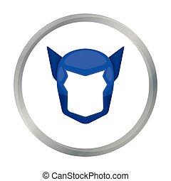 casque, style, superhero, illustration., symbole, masque,...