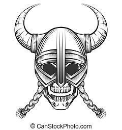 casque viking, crâne
