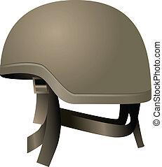 casques, moderne, combat
