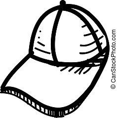 casquette, base-ball, icône