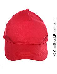 casquette, base-ball, rouges
