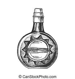 casquette, bouchon, vecteur, bouteille, élégant, cercle, whisky