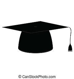 casquette, icône, remise de diplomes