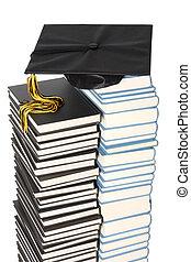 casquette, livres, remise de diplomes