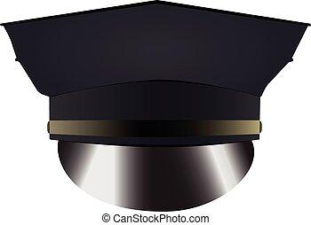 casquette, police uniforme