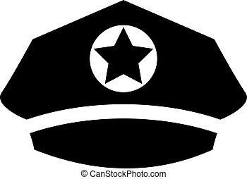 casquette, uniforme, icône