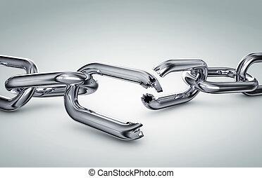cassé, chaîne
