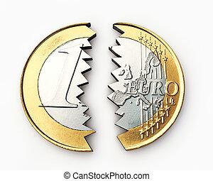 cassé, euro