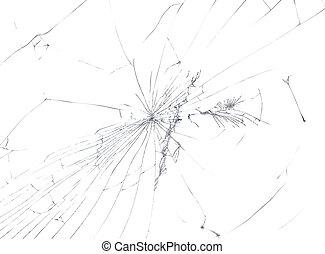 cassé, fenêtre, coupure