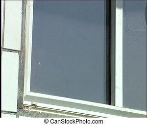 cassé, fenêtre