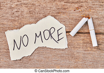 cassé, message, more., cigarette, non